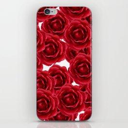 ROSES ROSES RED RED ROSES iPhone Skin
