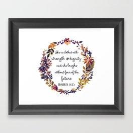 Christian quote Framed Art Print