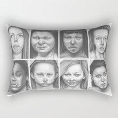 cry, don't cry Rectangular Pillow