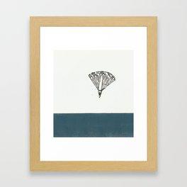 The first parachute jump Framed Art Print