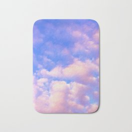 Pink and Cloudy vibes Bath Mat