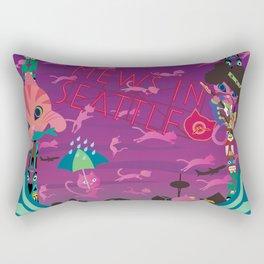 Mews in Seattle Rectangular Pillow