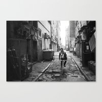 cycling Canvas Prints featuring cycling by Gordon Chalmers
