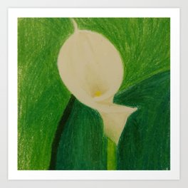 Cala Lily On Abstract Background Art Print