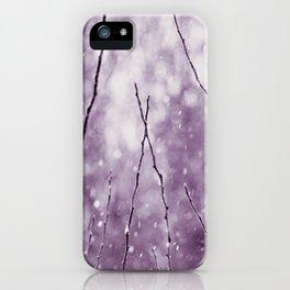 Purple Winter iPhone Case