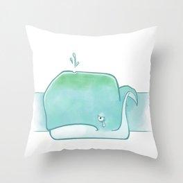 Sad sad whale Throw Pillow