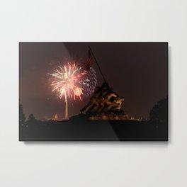 Iwo Jima Fireworks Metal Print