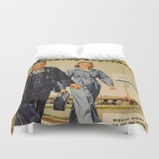 1942 Working Together Cover Duvet Cover