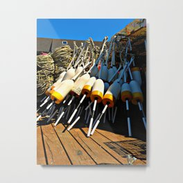 Buoys on the Dock Metal Print