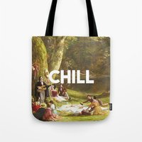chill Tote Bags featuring Chill by eARTh
