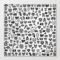 Animal Party Canvas Print