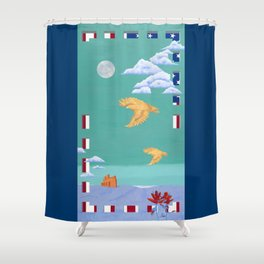 Take to the Sky Shower Curtain