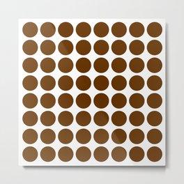 Nutmeg Mocha Neutral Dots Metal Print