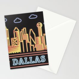 Dallas Neon City Stationery Cards