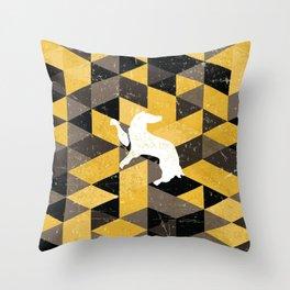 Hufflepuff House Pattern Throw Pillow