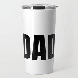 Dad dad father daddy kids 3 math gift Travel Mug