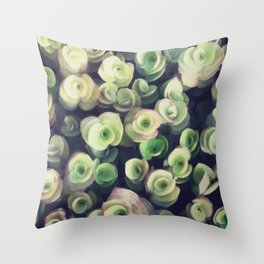 greeny leaves Throw Pillow