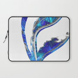Blue Gray And White Art - Flowing 1 - Sharon Cummings Laptop Sleeve