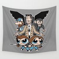 boys Wall Tapestries featuring Hell & Back Boys by Fanboy30