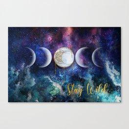 Celestial Ocean Moon Phases   Stay Wild Canvas Print