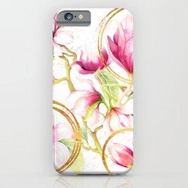 Modern Parisian Magnolias iPhone Case