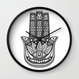 Hamsa hand - evil eye Wall Clock