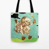 anarchy Tote Bags featuring Anarchy Time by Beery Method