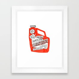 Cleantastic Framed Art Print