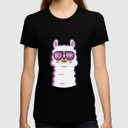 80er Party Lama Sonnenbrille Achtziger Jahre T-shirt
