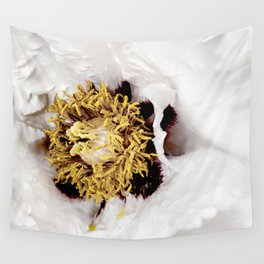 White Peony | Floral Photography | Minimalism | Nature Flower Art Wall Tapestry