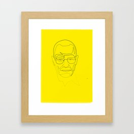 One Line Breaking Bad: Heisenberg Framed Art Print