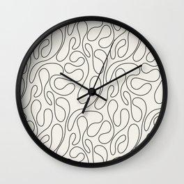 Black Lines Curves Wall Clock