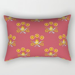 Waffle and Syrup (Raspberry Red) Rectangular Pillow
