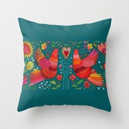 amour teal Throw Pillow
