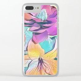 Flower Bouquet Pastel Clear iPhone Case