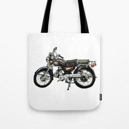 Motorcycle (Red & Black) Tote Bag