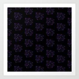 Matchsticks geometry Art Print