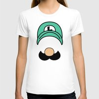 luigi T-shirts featuring Misfit Luigi by cudatron