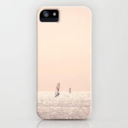 Golden Hour Surfers iPhone Case