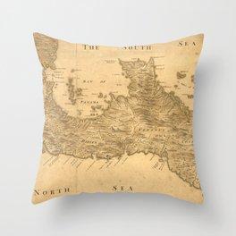 Vintage Map of Panama (1800) Throw Pillow