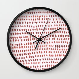 RED DOTTED PATTERN  Wall Clock