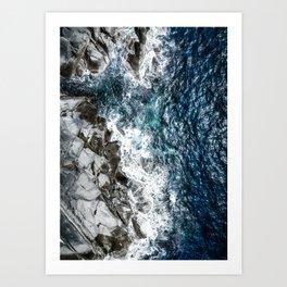 Skagerrak Coastline - Aerial Photography Art Print