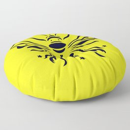 Save the bumblebee by #Bizzartino Floor Pillow