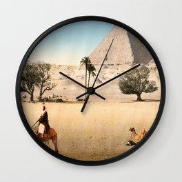 Vintage Pyramid : Grand Pyramid Gizeh Egypt 1895 Wall Clock
