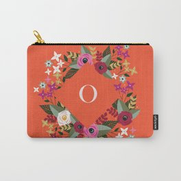 Floral Pink Monogram O Carry-All Pouch
