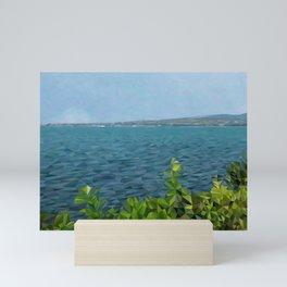 Sea landscape in polygon technique Mini Art Print