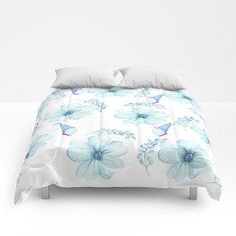 Renaissance Magic Gnome Blue Flowers Comforters