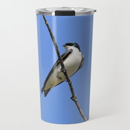 Handsome Male Tree Swallow on a Branch Travel Mug