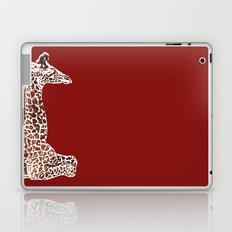 Giraffe in Red Laptop & iPad Skin