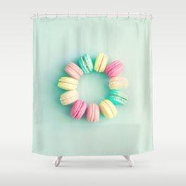 Macarons, macaroons circle, pop art Shower Curtain